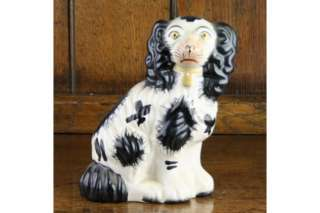Staffordshire Pottery Modern Spaniel Wally Dog Figure