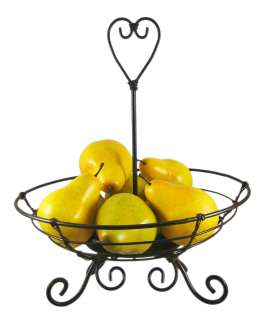 Wrought Iron Decorative Centerpiece Bowl Fruit Basket