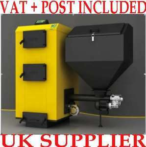 PBI 50Kw wood pellet coal heating burning boiler stove multi fuel
