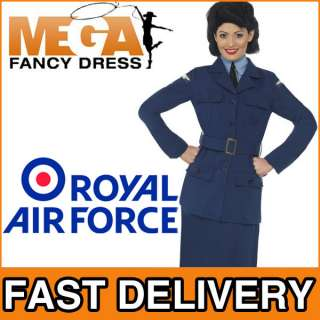 RAF Uniform Ladies WW2 Fancy Dress Military Uniform Army 1940s 40s