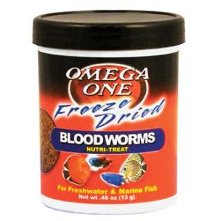 Home Fish Food Omega One Freeze Dried Blood Worms