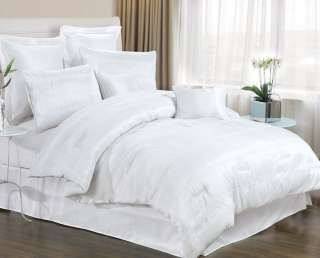 Solid White Urban COMFORTER Set BED IN A BAG Cal King @