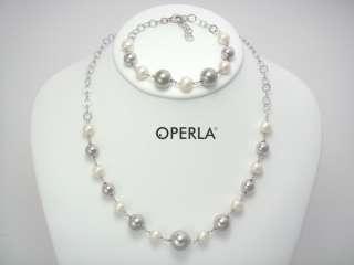 Collar/Pulsera/Pendientes PERLAS en Blanco   OPERLA