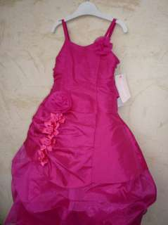 robe fille 6 ans rose fuschia cérémonie mariage cortège