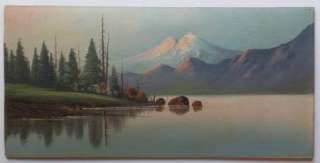 Oil Painting Landscape Artist Signed Morgan Forest Mountain Lake Art
