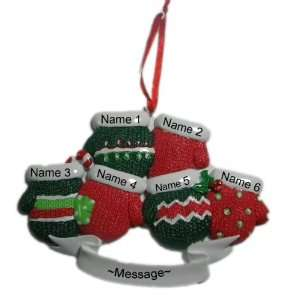 Gloves Family Christmas Holiday Gift Expertly Handwritten Ornament