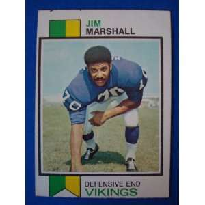 Trading Card Minnesota Vikings Jim Marshall #406: Sports & Outdoors