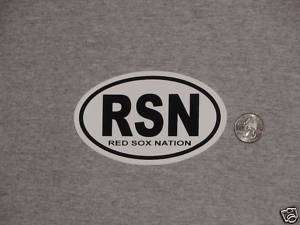 Red Sox Nation RSN Logo Decal Sticker (B) Pedroia FREE