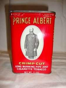 VINTAGE PRINCE ALBERT CRIMP CUT CIGARETTE TOBACCO TIN 1 1/2 OZ. MINT