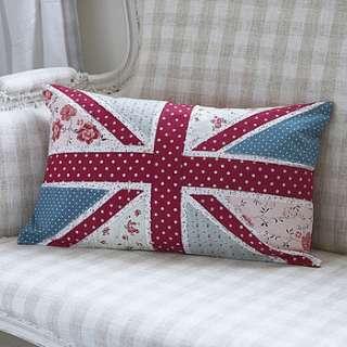 floral union jack cushion by live laugh love