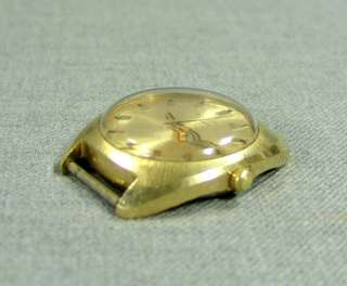 1970 SOVIET RUSSIAN GOLD POLJOT MEN WRISTWATCH~17 JEWEL