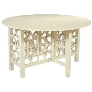 Ty Pennington Round Gate Leg Table with Coconut Finish by Howard