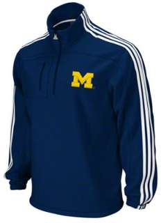 Michigan Wolverines adidas Navy 1/4 Zip Microfleece