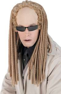 Deluxe Matrix Albino Twin Wig   Authentic Matrix Costume Accessories