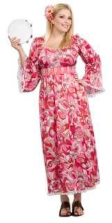 Plus Size Hippie Flower Girls Costume   Hippie Costumes