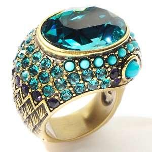 Heidi Daus Mystical Serpent Snake Design Crystal Ring