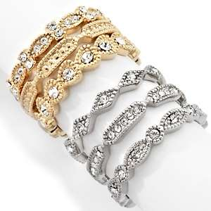 Justine Simmons Jewelry Mixed Metal 6 piece Stack Ring Set