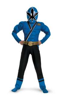 Power Rangers Samurai Blue Ranger Samurai Classic Muscle Child Costume