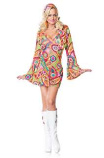 Hippie Chick Adult Costume for Halloween   Pure Costumes