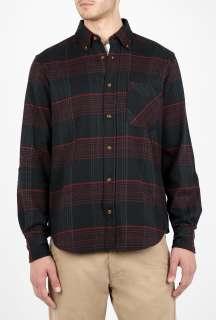 Adam Kimmel X Carhartt  Black Plaid Flannel Button Collar Shirt by