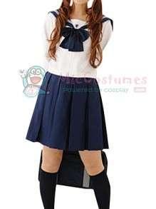 Long Sleeves School Uniform Cosplay Costume  Long Sleeves School