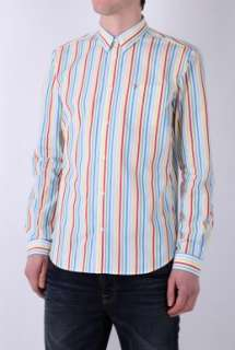 Candy Stripe Button Down Shirt by Farah   Red   Buy Shirts Online at