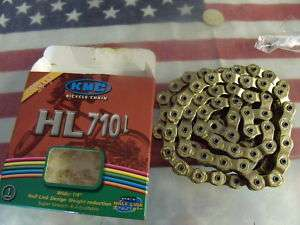 KMC PINTLE HL710L HALFLINK 1/8 GOLD BMX BIKE CHAIN