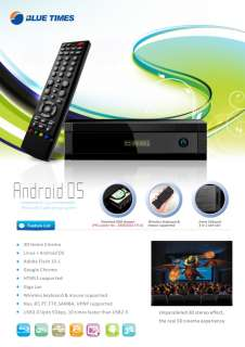 3D + Android 1080P Full HD Network MKV Bluray ISO Media Player