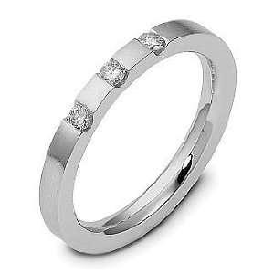 14 Karat White Gold Stackable Diamond Band Ring   6.25 Jewelry