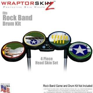 Plane Skin by WraptorSkinz fits Rock Band Drum Set for Nintendo Wii