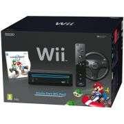 Black Nintendo Wii Console – Mario Kart Pack Plus Games