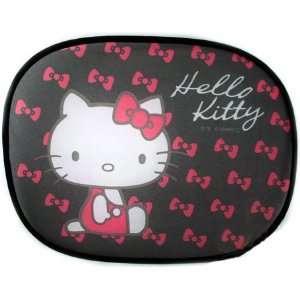 Car Side Window Sun Shade   2 in 1 Set   Hello Kitty Pink