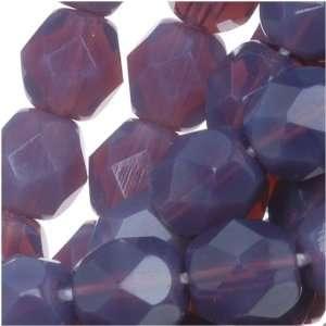 Czech Fire Polish Glass Beads 6mm Round Purple Amethyst