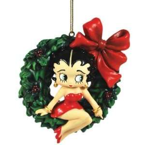 Betty Boop on Wreath Ornament 20142