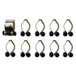 Brass Finish Pool Cue Billiard Stick Rack Clips Sports & Outdoors