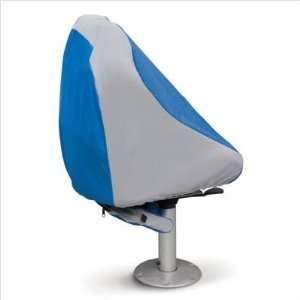 Hurricane Always Ready Boat Seat Cover in Blue / Grey Automotive