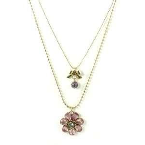Johnson Jewelry Iconic Springtime Bloom Flower Bow Necklace Jewelry