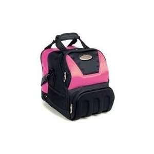 White Dot Pink / Black Bowling Bag