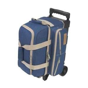 Double Roller Blue Denim Bowling Bag