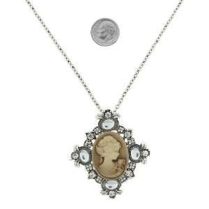 Fashion Jewelry ~ Beige Cameo Necklace