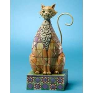 Enesco Jim Shore Checkers Brown Kitty Cat Figurine Everything Else