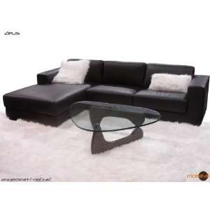Mobital Chocolate Brown Leather Sectional Sofa