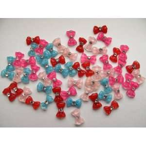 Nail Art 3d 60 Pieces Mix Color Crystal Bow for Nails, Cellphones 1