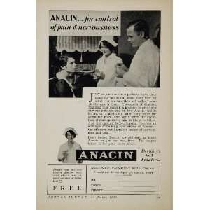 1930 Ad Anacin Pain Relief Dental Dentistry Dentist