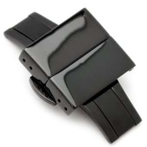 20mm Deployment Buckle / Clasp, PVD Black Stainless Steel with Release