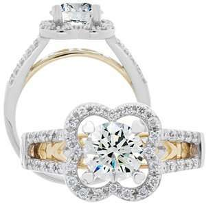 Round Brilliant Center Diamond Ring Carat Total Weight 0.98 Jewelry