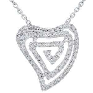 0.23 Carat 18kt White Gold Diamond Necklace Jewelry