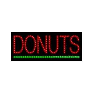 Donuts LED Sign 8 x 20 Home Improvement