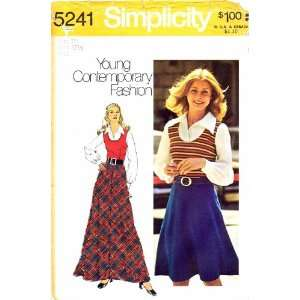 Simplicity 5241 Vintage Sewing Pattern Womens Dress Bias