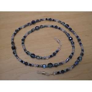 Teal Iris Swarovski Crystal Eyeglass Chain Holder